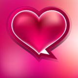 Valentine heart on abstract. EPS 10 Stock Images