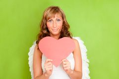Valentine heart angel Royalty Free Stock Photos