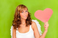 Valentine heart angel Stock Photos