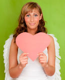 Valentine heart angel Royalty Free Stock Photo