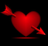 Valentine Heart with Arrow Royalty Free Stock Photos