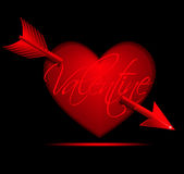 Valentine Heart with Arrow Royalty Free Stock Images