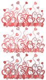 Valentine heart background. There are flowers backgrounds with hearts Stock Photo