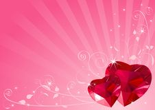 Valentine heart background Royalty Free Stock Images
