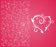 Valentine heart and background Stock Images