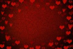 Valentine heart background. Abstract Defocused red Background,Valentine heart background Stock Photography