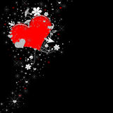 VALENTINE HEART BACKGROUND ON BLACK Stock Images
