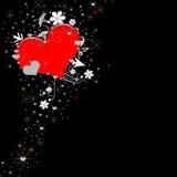 VALENTINE HEART BACKGROUND ON BLACK Stock Images