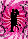 Valentine Heart Background Couple Stock Images
