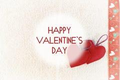 Valentine heart background fabric Royalty Free Stock Photos