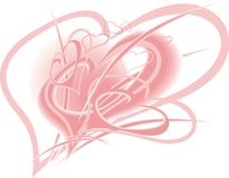 Valentine heart background Stock Photography