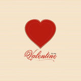 Valentine heart background with valentine message Royalty Free Stock Images