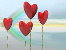 Valentine heart balloons. Royalty Free Stock Photography