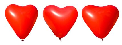 Valentine heart balloons Stock Images