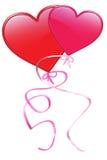 Valentine heart balloons Stock Image
