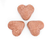 Valentine heart biscuit Stock Photos