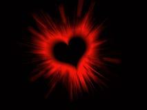 Valentine Heart on Black Stock Images