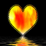 Valentine heart on black Royalty Free Stock Photos
