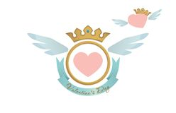 Valentine heart blazon Stock Photography