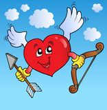 Valentine heart on blue sky Stock Photos
