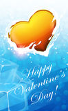 Valentine Heart in blue water Stock Photography