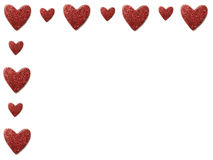 Valentine Heart Border. Valentines Day Festive Heart Border Royalty Free Stock Photos