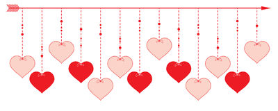 Valentine Heart - border design Royalty Free Stock Image