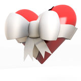 Valentine heart with bow Stock Photo
