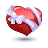Valentine heart with a bow-knot Royalty Free Stock Photo