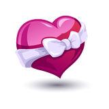 Valentine heart with a bow-knot Stock Images