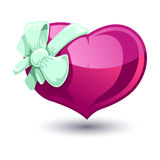 Valentine heart with a bow-knot Stock Photo