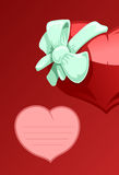 Valentine heart with a bow-knot Stock Photography