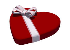 Valentine Heart Box Foto de Stock