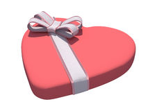 Valentine Heart Box Royaltyfria Bilder