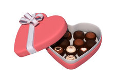 Valentine Heart Box Foto de Stock Royalty Free