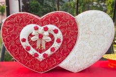 Valentine Heart Box Arkivbilder