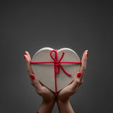 Valentine heart box Stock Images