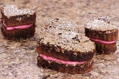 Valentine Heart Brownies Stock Photo