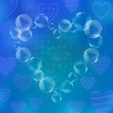 Valentine heart from bubbles Royalty Free Stock Images