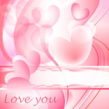 Valentine heart bubbles. In pink with text space Stock Photography
