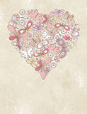 Valentine heart of butterfles Stock Photography