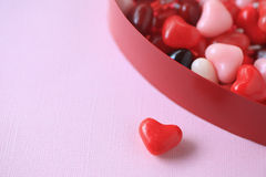 Valentine heart candies with copy space Royalty Free Stock Photos