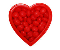 Valentine heart with candy Royalty Free Stock Photography