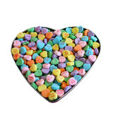 Valentine Heart Candy. Candy hearts in a heart shape Stock Photos