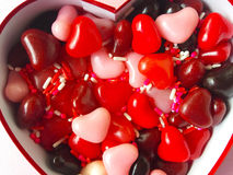 Valentine heart candy with sprinkles Stock Photography