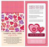 Valentine heart card Stock Photos