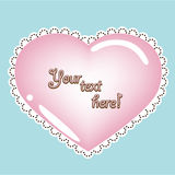 Valentine heart card Royalty Free Stock Photo