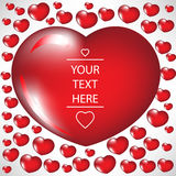 Valentine heart card Royalty Free Stock Images