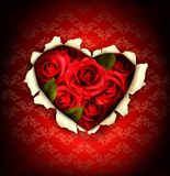Valentine Heart Card Design.  Stock Photos