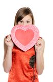 Valentine heart card Stock Image